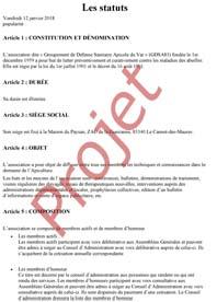 Proposition de modification des Statuts